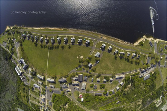 Aerial Photo of Fort Hancock